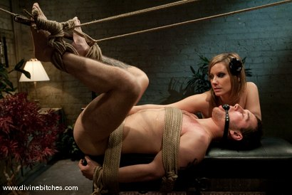 """Photo number 8 from The Making of a Dominant: Episode 2 """"Reality Check"""" shot for Divine Bitches on Kink.com. Featuring Curt Wooster and Maitresse Madeline Marlowe in hardcore BDSM & Fetish porn."""