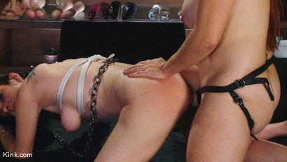 Photo number 4 from Two slave whores shot for Kink Live on Kink.com. Featuring Bella Rossi and Winter Sky in hardcore BDSM & Fetish porn.