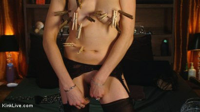 Photo number 2 from Sexy Sasha Lexing is Wet for You! shot for Kink Live on Kink.com. Featuring Sasha Lexing in hardcore BDSM & Fetish porn.
