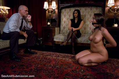 Photo number 2 from Spouse Training shot for Sex And Submission on Kink.com. Featuring Isis Love, Mark Davis and Kelly Divine in hardcore BDSM & Fetish porn.