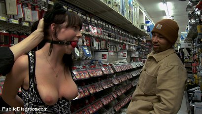 Photo number 2 from 20 Year old Slut gets Used in a Hardware Store shot for Public Disgrace on Kink.com. Featuring John Henry and Lindy Lane in hardcore BDSM & Fetish porn.