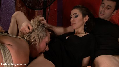 Photo number 13 from Skylar Price  shot for Public Disgrace on Kink.com. Featuring James Deen, Mr. Pete and Skylar Price in hardcore BDSM & Fetish porn.