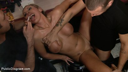 Photo number 4 from Skylar Price  shot for Public Disgrace on Kink.com. Featuring James Deen, Mr. Pete and Skylar Price in hardcore BDSM & Fetish porn.