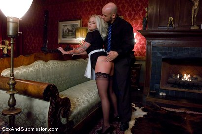 Photo number 2 from Stealing Maid shot for Sex And Submission on Kink.com. Featuring Derrick Pierce and Angel Vain in hardcore BDSM & Fetish porn.