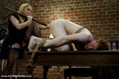 Photo number 11 from Perverted panty thief dominated, humiliated, cock teased and left covered in his own filth! shot for Divine Bitches on Kink.com. Featuring Aiden Starr and Zak Tyler in hardcore BDSM & Fetish porn.