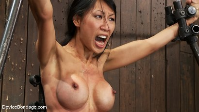 Photo number 13 from Tia Ling   Can orgasms be a form of torment?   Short answer is YES! shot for Device Bondage on Kink.com. Featuring Tia Ling in hardcore BDSM & Fetish porn.