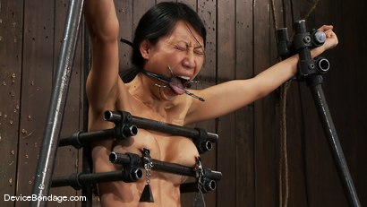 Photo number 15 from Tia Ling<br> Can orgasms be a form of torture?<br>Short answer is YES! shot for Device Bondage on Kink.com. Featuring Tia Ling in hardcore BDSM & Fetish porn.