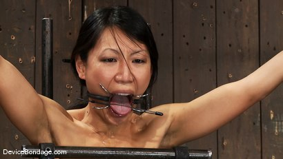 Photo number 9 from Tia Ling<br> Can orgasms be a form of torture?<br>Short answer is YES! shot for Device Bondage on Kink.com. Featuring Tia Ling in hardcore BDSM & Fetish porn.