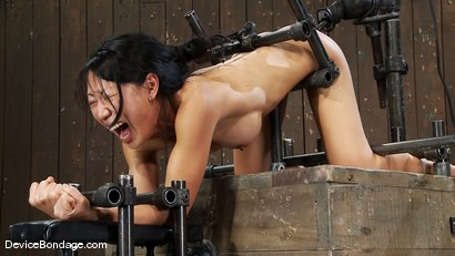 Photo number 9 from Tia Ling<br>Such a tiny ass, such a huge machine cock! shot for Device Bondage on Kink.com. Featuring Tia Ling in hardcore BDSM & Fetish porn.