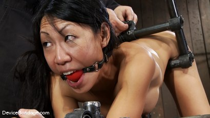 Photo number 1 from Tia Ling<br>Such a tiny ass, such a huge machine cock! shot for Device Bondage on Kink.com. Featuring Tia Ling in hardcore BDSM & Fetish porn.