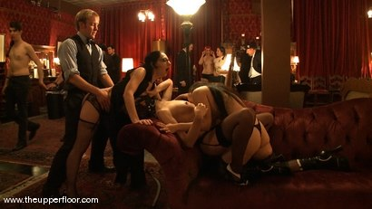 Photo number 10 from Stefanos hosts Sunday Brunch shot for The Upper Floor on Kink.com. Featuring Cherry Torn and Sarah Shevon in hardcore BDSM & Fetish porn.