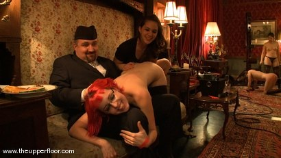 Photo number 14 from Stefanos hosts Sunday Brunch shot for The Upper Floor on Kink.com. Featuring Cherry Torn and Sarah Shevon in hardcore BDSM & Fetish porn.