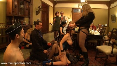 Photo number 4 from Stefanos hosts Sunday Brunch shot for The Upper Floor on Kink.com. Featuring Cherry Torn and Sarah Shevon in hardcore BDSM & Fetish porn.