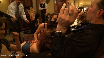Photo number 7 from Stefanos hosts Sunday Brunch shot for The Upper Floor on Kink.com. Featuring Cherry Torn and Sarah Shevon in hardcore BDSM & Fetish porn.