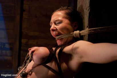 "Photo number 9 from Fuck ""Over a Barrel""  IN a Barrel for Maggie! shot for Hogtied on Kink.com. Featuring Maggie Mayhem in hardcore BDSM & Fetish porn."