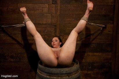 "Photo number 10 from Fuck ""Over a Barrel""  IN a Barrel for Maggie! shot for Hogtied on Kink.com. Featuring Maggie Mayhem in hardcore BDSM & Fetish porn."