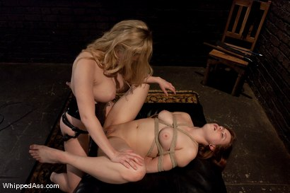 Photo number 14 from Chamille's First Lesbian Experience shot for Whipped Ass on Kink.com. Featuring Aiden Starr and Chamille in hardcore BDSM & Fetish porn.