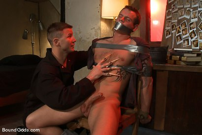 Photo number 8 from The New Creepy Janitor shot for Bound Gods on Kink.com. Featuring Trent Diesel and Brenn Wyson in hardcore BDSM & Fetish porn.