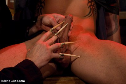 Photo number 3 from The New Creepy Janitor shot for Bound Gods on Kink.com. Featuring Trent Diesel and Brenn Wyson in hardcore BDSM & Fetish porn.