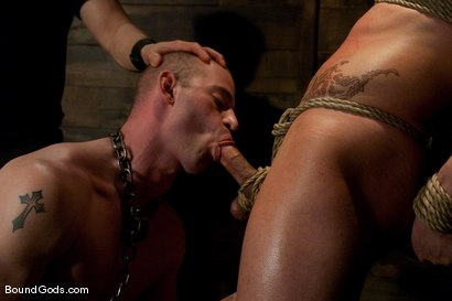 Photo number 3 from Phenix Rising shot for Bound Gods on Kink.com. Featuring Patrick Rouge and Phenix Saint in hardcore BDSM & Fetish porn.