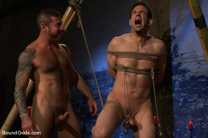 Photo number 6 from Bushido shot for Bound Gods on Kink.com. Featuring Nick Moretti and Jason Miller in hardcore BDSM & Fetish porn.