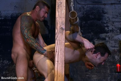 Photo number 12 from Bushido shot for Bound Gods on Kink.com. Featuring Nick Moretti and Jason Miller in hardcore BDSM & Fetish porn.