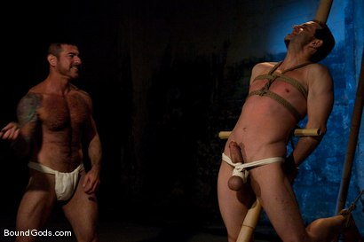 Photo number 2 from Bushido shot for Bound Gods on Kink.com. Featuring Nick Moretti and Jason Miller in hardcore BDSM & Fetish porn.