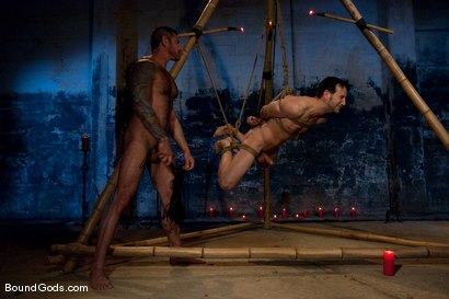 Photo number 8 from Bushido shot for Bound Gods on Kink.com. Featuring Nick Moretti and Jason Miller in hardcore BDSM & Fetish porn.