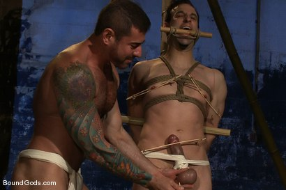 Photo number 3 from Bushido shot for Bound Gods on Kink.com. Featuring Nick Moretti and Jason Miller in hardcore BDSM & Fetish porn.