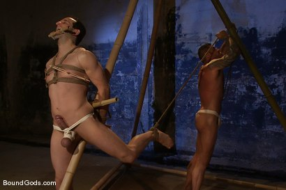 Photo number 4 from Bushido shot for Bound Gods on Kink.com. Featuring Nick Moretti and Jason Miller in hardcore BDSM & Fetish porn.