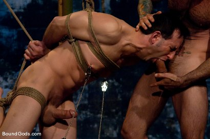 Photo number 7 from Bushido shot for Bound Gods on Kink.com. Featuring Nick Moretti and Jason Miller in hardcore BDSM & Fetish porn.