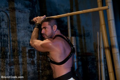 Photo number 1 from Bushido shot for Bound Gods on Kink.com. Featuring Nick Moretti and Jason Miller in hardcore BDSM & Fetish porn.