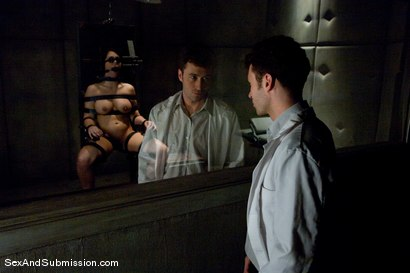Photo number 3 from Mad Scientist shot for Sex And Submission on Kink.com. Featuring James Deen and Beverly Hills in hardcore BDSM & Fetish porn.