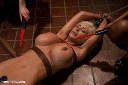 Photo number 10 from Puma Swede: Big Tits, Blonde Hair, and a Bad Attitude shot for Wired Pussy on Kink.com. Featuring Puma Swede, Isis Love and Princess Donna Dolore in hardcore BDSM & Fetish porn.