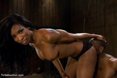 Photo number 7 from Natassia Dream, Jack Hammer  Nothing is as it seems shot for TS Seduction on Kink.com. Featuring Natassia Dreams and Jack Hammer in hardcore BDSM & Fetish porn.