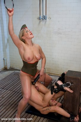 Photo number 14 from Train my ass Miss Dia, Plllllease! shot for Divine Bitches on Kink.com. Featuring Dia Zerva and Dean Strong in hardcore BDSM & Fetish porn.