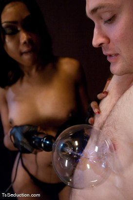 Photo number 3 from Sexy Jade <br> trolling for poling shot for TS Seduction on Kink.com. Featuring Sexy Jade and Rocky in hardcore BDSM & Fetish porn.
