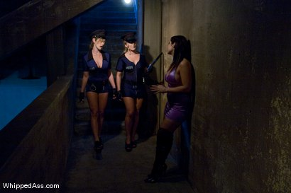 Photo number 1 from Bitch Cops shot for Whipped Ass on Kink.com. Featuring Felony, Beverly Hills and Dia Zerva in hardcore BDSM & Fetish porn.
