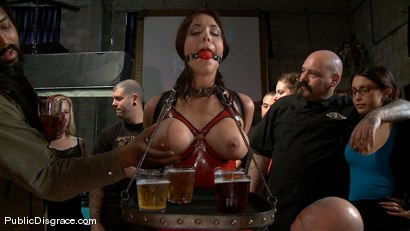 Photo number 1 from Bikers, Boobs, Babes shot for Public Disgrace on Kink.com. Featuring Beverly Hills and Mark Davis in hardcore BDSM & Fetish porn.