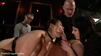 Photo number 4 from Bikers, Boobs, Babes shot for Public Disgrace on Kink.com. Featuring Beverly Hills and Mark Davis in hardcore BDSM & Fetish porn.
