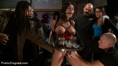 Photo number 2 from Bikers, Boobs, Babes shot for Public Disgrace on Kink.com. Featuring Beverly Hills and Mark Davis in hardcore BDSM & Fetish porn.