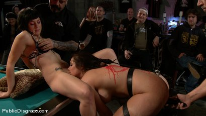 Photo number 9 from Bikers, Boobs, Babes shot for Public Disgrace on Kink.com. Featuring Beverly Hills and Mark Davis in hardcore BDSM & Fetish porn.