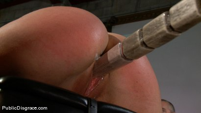 Photo number 7 from Bikers, Boobs, Babes shot for Public Disgrace on Kink.com. Featuring Beverly Hills and Mark Davis in hardcore BDSM & Fetish porn.