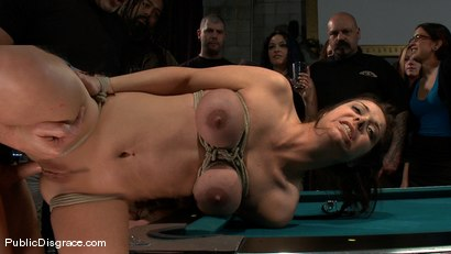 Photo number 14 from Bikers, Boobs, Babes shot for Public Disgrace on Kink.com. Featuring Beverly Hills and Mark Davis in hardcore BDSM & Fetish porn.
