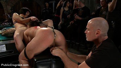 Photo number 3 from Bikers, Boobs, Babes shot for Public Disgrace on Kink.com. Featuring Beverly Hills and Mark Davis in hardcore BDSM & Fetish porn.