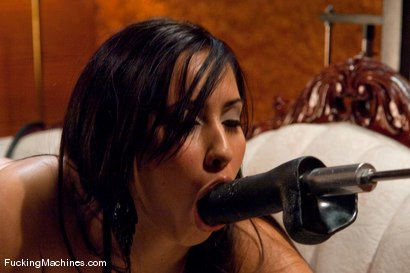Photo number 3 from Isis Love <br> bent over, stuffed full, and squirting down her legs shot for Fucking Machines on Kink.com. Featuring Isis Love in hardcore BDSM & Fetish porn.