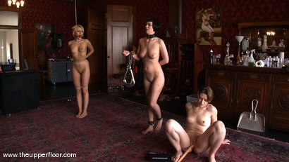 Photo number 3 from Service Session: Fresh Meat shot for The Upper Floor on Kink.com. Featuring Cherry Torn, Sarah Shevon and Mallory Rae Murphy in hardcore BDSM & Fetish porn.