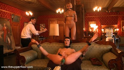 Photo number 15 from Service Session: Fresh Meat shot for The Upper Floor on Kink.com. Featuring Cherry Torn, Sarah Shevon and Mallory Rae Murphy in hardcore BDSM & Fetish porn.