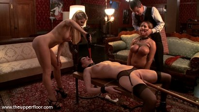 Photo number 12 from Visitors to the Upper Floor shot for The Upper Floor on Kink.com. Featuring Cherry Torn, Ashley Fires and Trina Michaels in hardcore BDSM & Fetish porn.