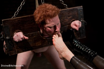 "Photo number 6 from Examining the Teacher's Pet: Episode 2 ""The cock crimper"" shot for Divine Bitches on Kink.com. Featuring Lorelei Lee, Charlotte Vale and Zak Tyler in hardcore BDSM & Fetish porn."